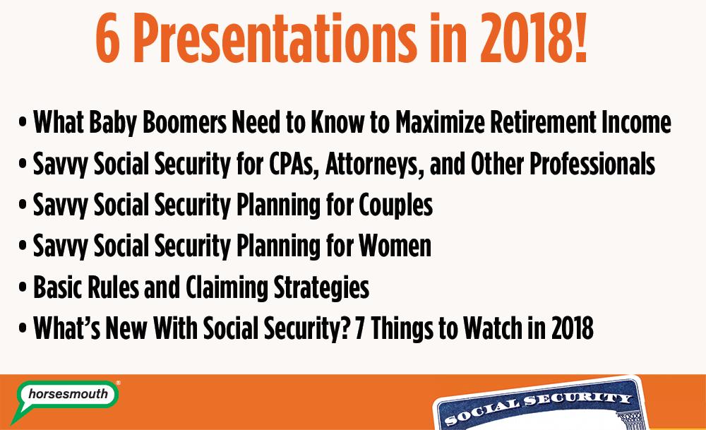 Social Security Presentations