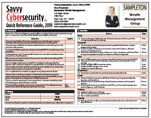 Savvy Cybersecurity Quick Reference Guide