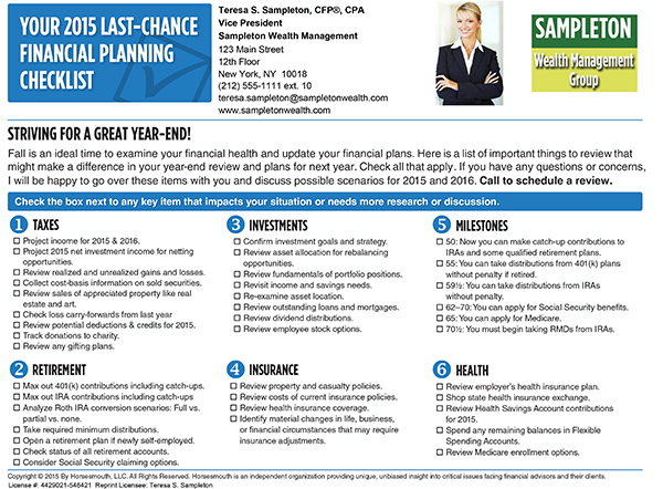 horsesmouth your 2015 last chance financial planning checklist