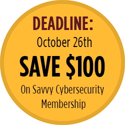 Save $100 on Cybersecurity