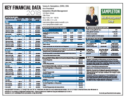Key Financial Data 2018