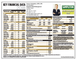 Key Financial Data 2017