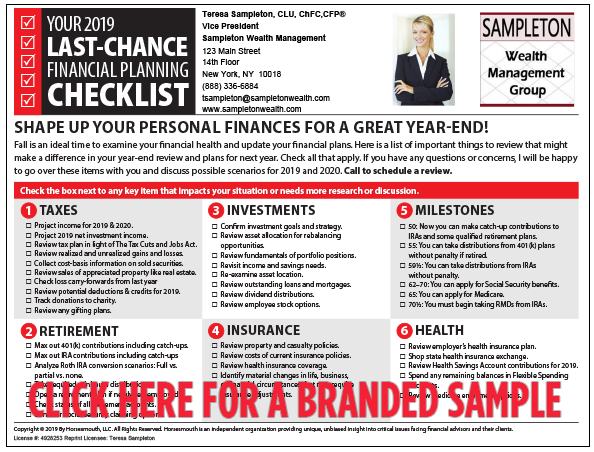 Checklist Sample