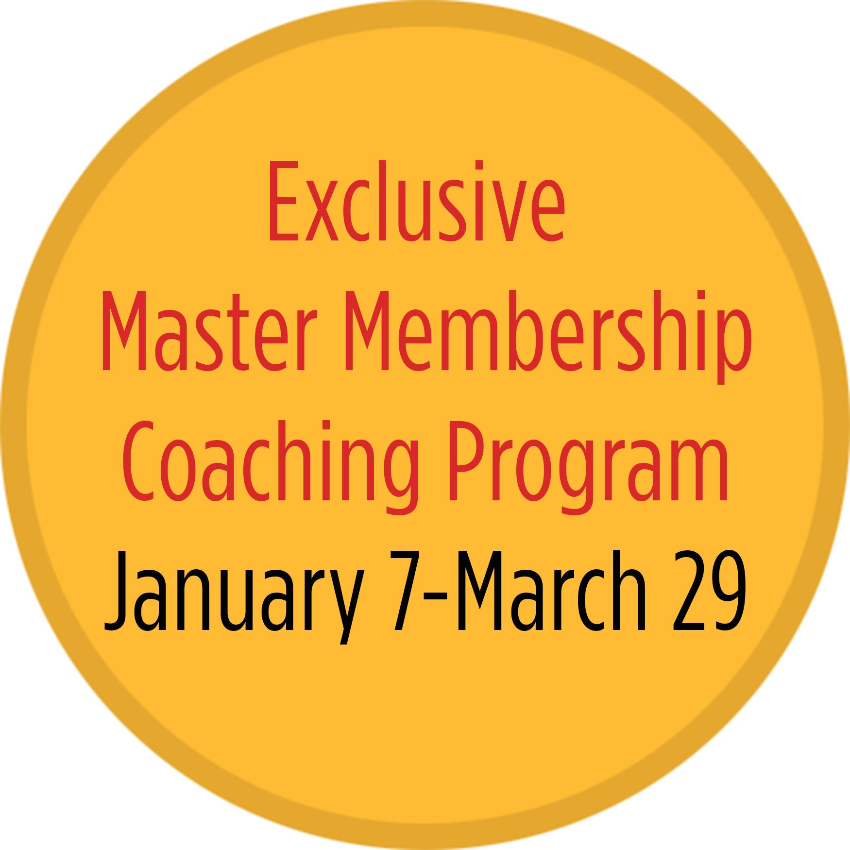 Master Membership Coaching Program