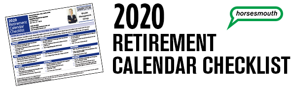 Retirement Calendar Checklist