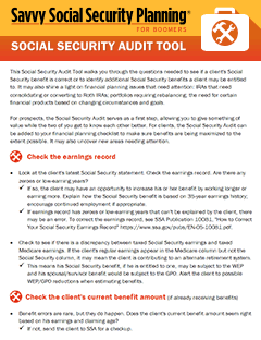 Social Security Audit Tool