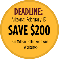 Save $200 on Million Dollar Solutions Workshop