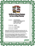 Savvy College Planning Renewal 13 Month License