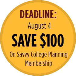 Savvy College Planning Save $100