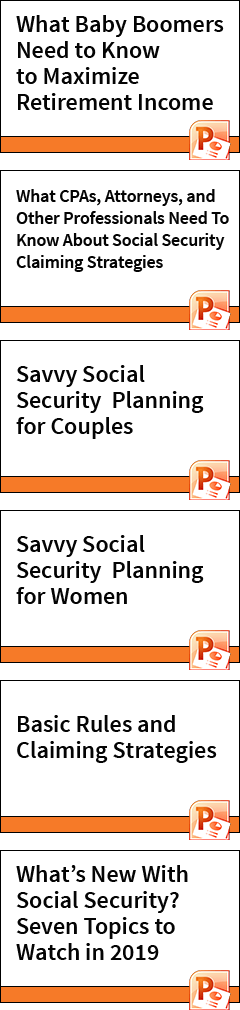 Social Security Presentations