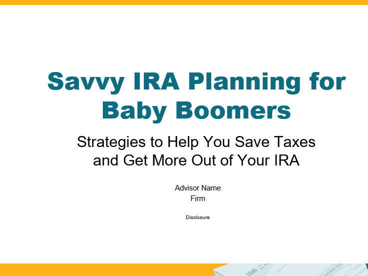 Strategies to Help You Save Taxes and Get More Out of Your IRA