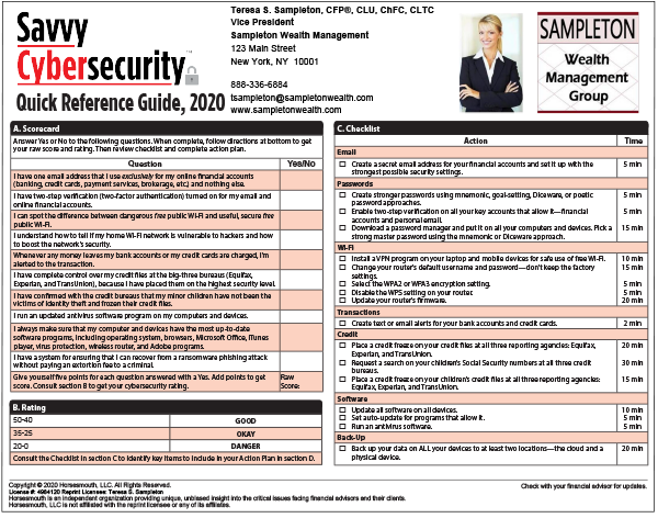 Cyber Quick Reference Sample