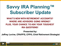 Savvy IRA Planning Updates