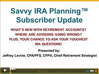 Savvy IRA Update Webinars
