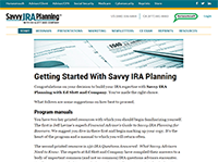 Savvy IRA Member's Only Website