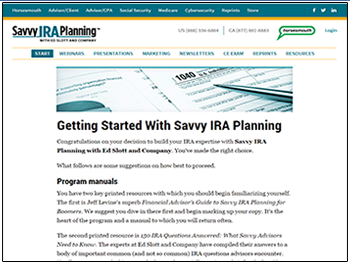 Savvy IRA Website
