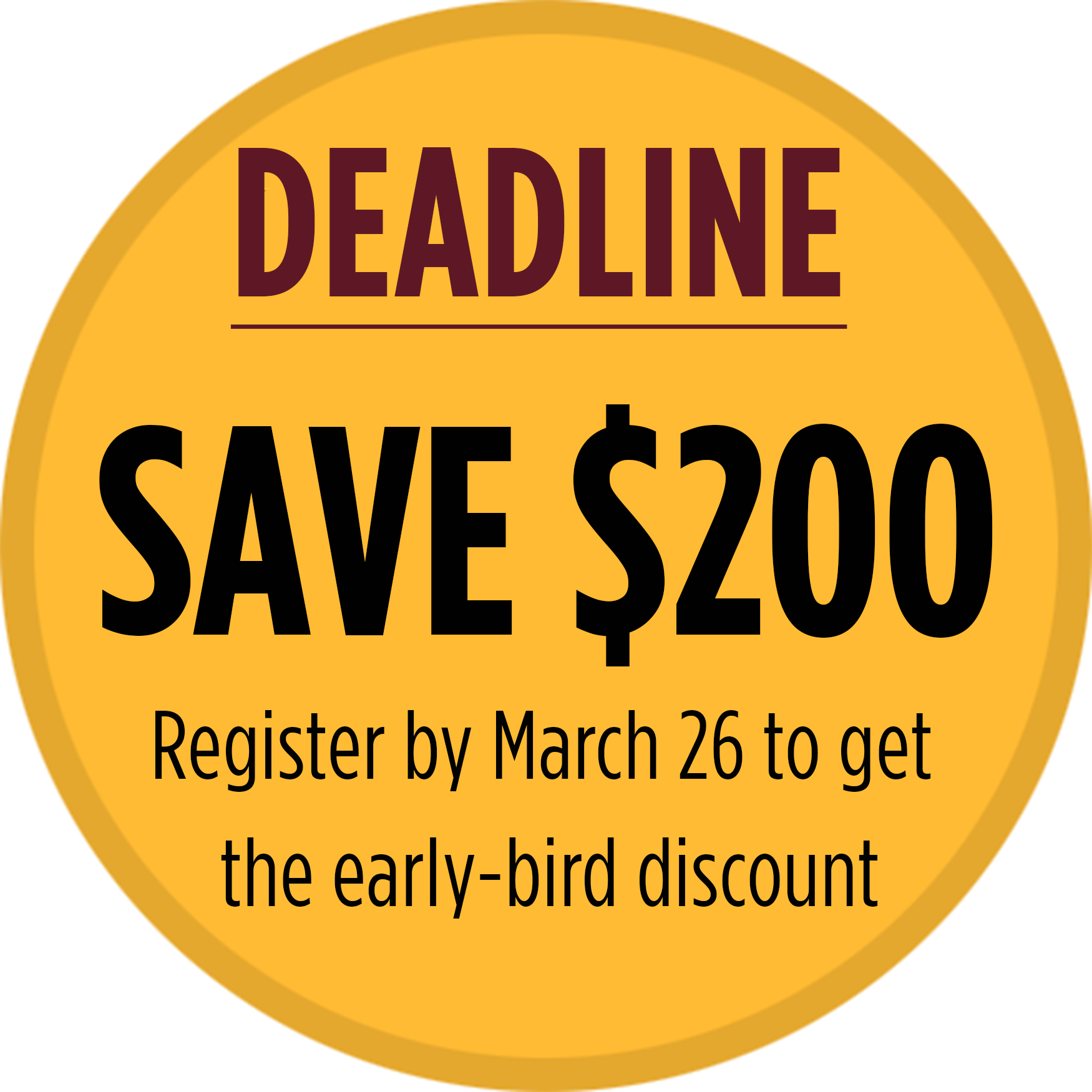 IRA Workshop Deadline- Save $200