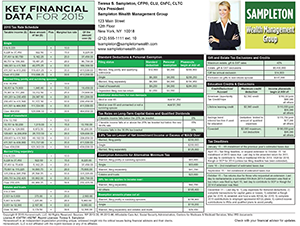 Key Financial Data For 2015