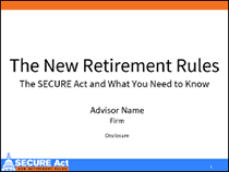 New Retirement Rules Presentation