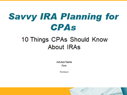 Savvy IRA Planning for CPAs