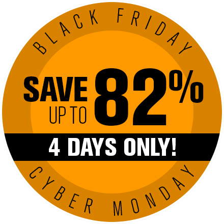 Black Friday Save up to 82%