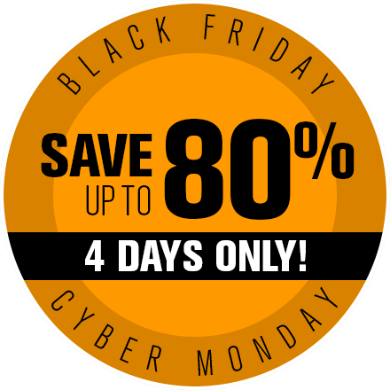 Black Friday Save up to 80%