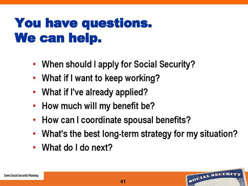 savvy social security planning slide 41