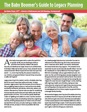 The Baby Boomer's Guide to Legacy Planning