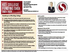 Key College Funding Data